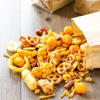 All your favorite snacks all mixed into one Redneck Snack Mix with BBQ Seasoning | Take Two Tapas