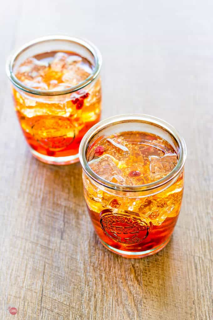 Sunrise Spritzer with Pomegranate and Orange | Take Two Tapas