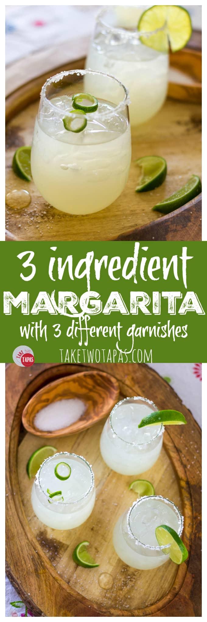 Summer Margarita made with 3 ingredients | Take Two Tapas | #margarita #cocktail #spring #CincoDeMayo #3ingredients