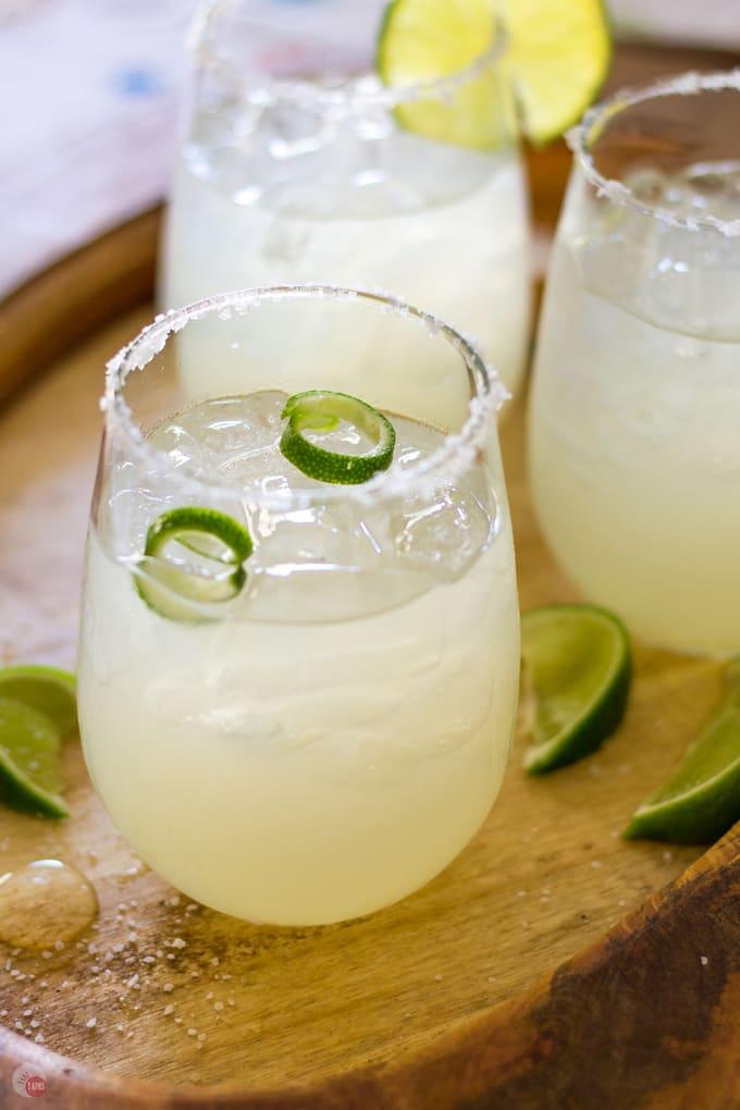 3 Ingredient Margarita for summer sipping | Take Two Tapas | #margarita #cocktail #spring #CincoDeMayo #3ingredients