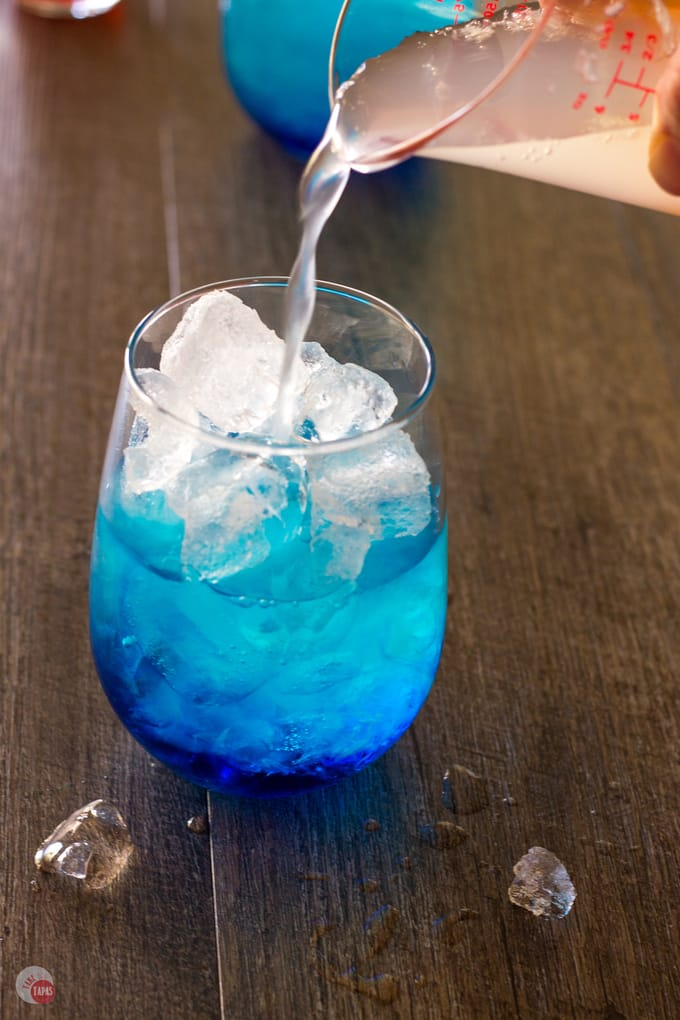 Space Pop Cocktail slowly | Take Two Tapas | #PatrioticRecipes #4thofJuly #RedWhiteBlue #CocktailRecipes #VodkaRecipe #SummerHolidays #SummerRecipes