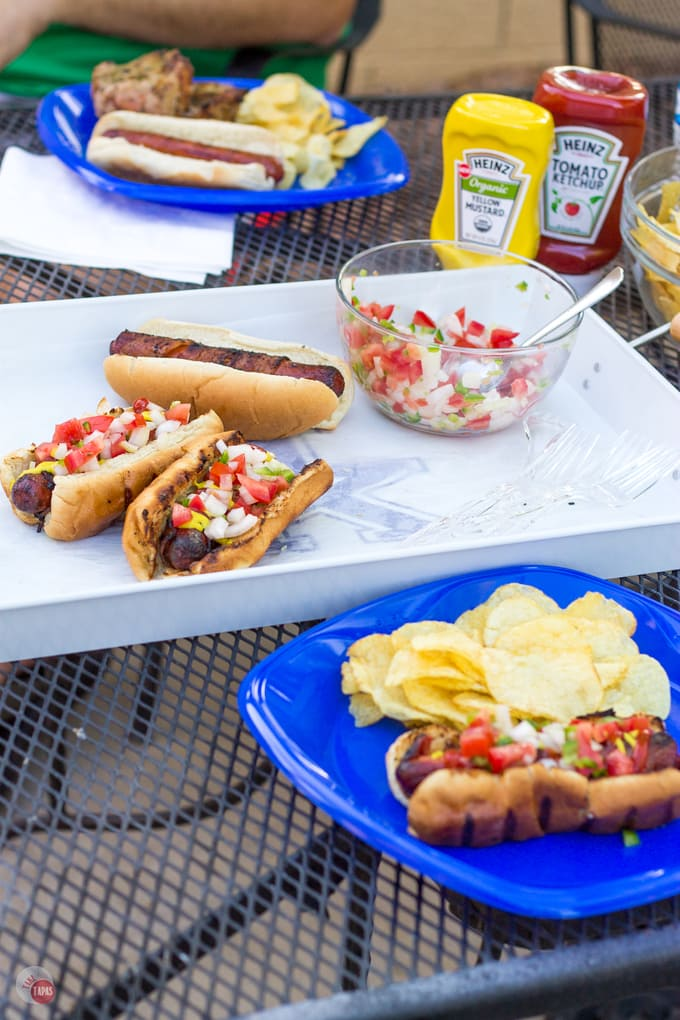 Bacon Wrapped Hot Dogs Summer | Take Two Tapas