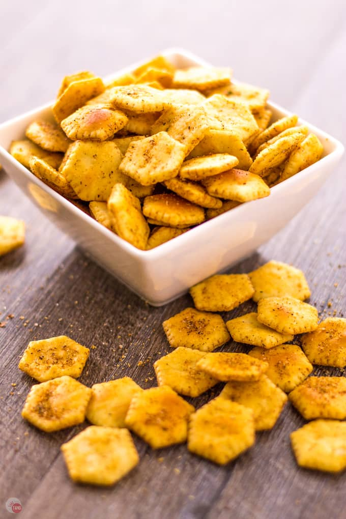 Oyster Crackers Jerk Spiced! | Take Two Tapas | #JerkSeasoning #JerkSpices #OysterCrackers #SeasonedCrackers #CrackerRecipes #SpicedCrackers