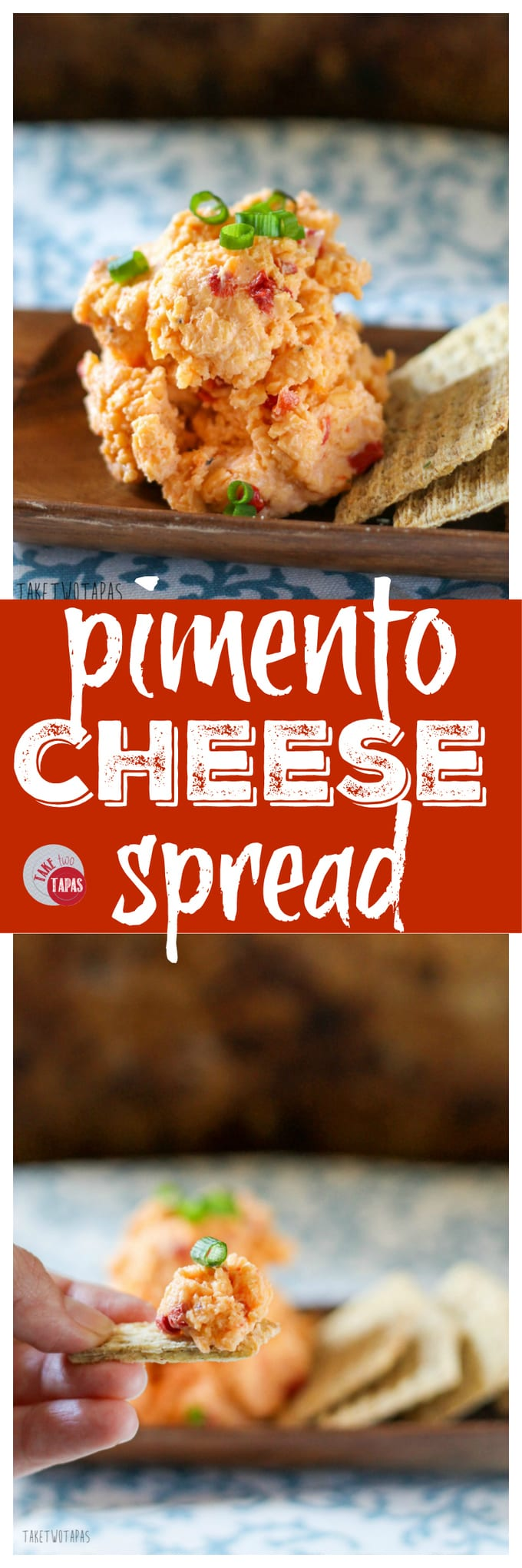 Delicious Homemade Pimento Cheese Spread | Take Two Tapas | #pimentocheese #pimento #cheese #Spread #MothersDay #Easter #Brunch