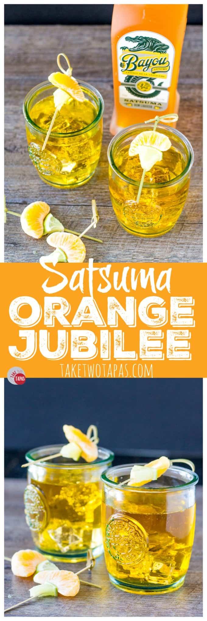 Orange Jubilee 3 ingredient cocktail | Take Two Tapas | #Satsuma #orange #cocktail #rum
