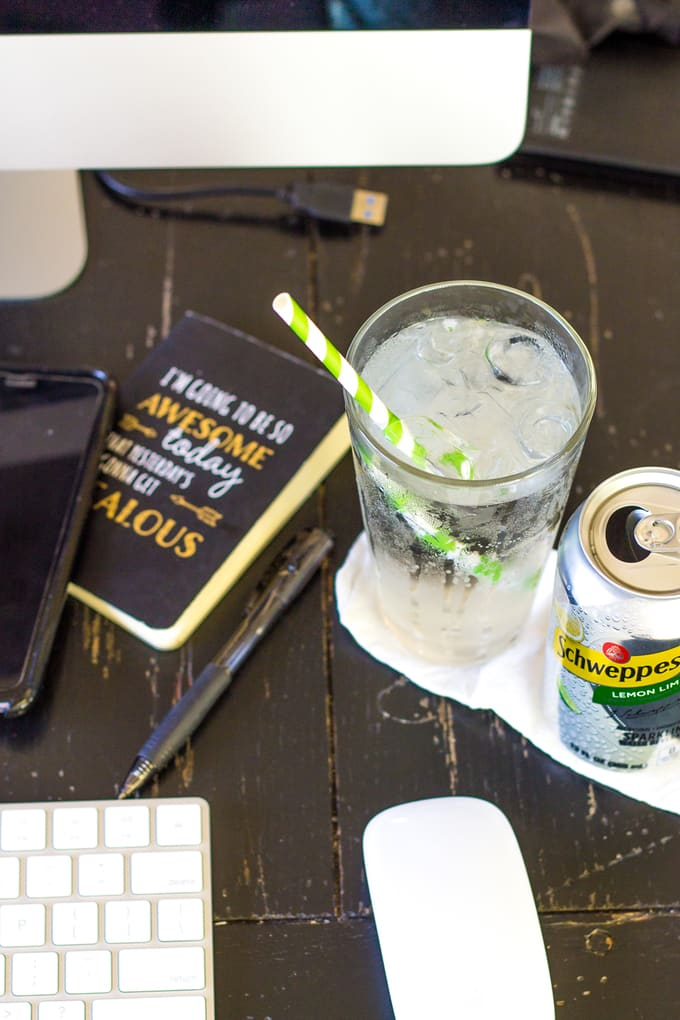 Blogging makes me thirsty. Drinking sparkling water helps! | Take Two Tapas