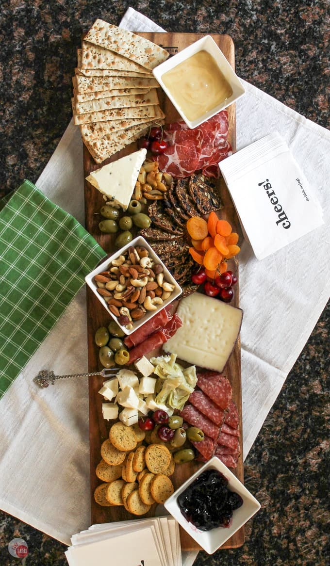 Antipasto Cheese Board for Summer Tapas Grazing | Take Two Tapas | #SummerEntertaining #EasyEntertaining #CheeseBoardIdeas #CheeseBoardDisplay #Antipasto #Tapas #CheeseBoard