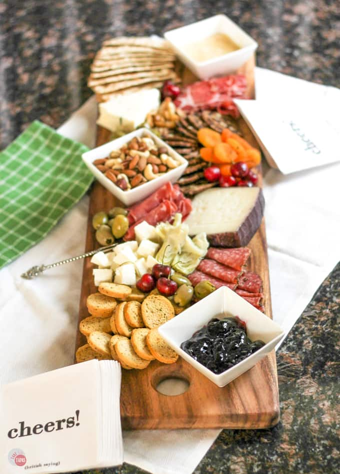 How to make a Summer Antipasto Cheese Board | Take Two Tapas | #SummerEntertaining #EasyEntertaining #CheeseBoardIdeas #CheeseBoardDisplay #Antipasto #Tapas #CheeseBoard