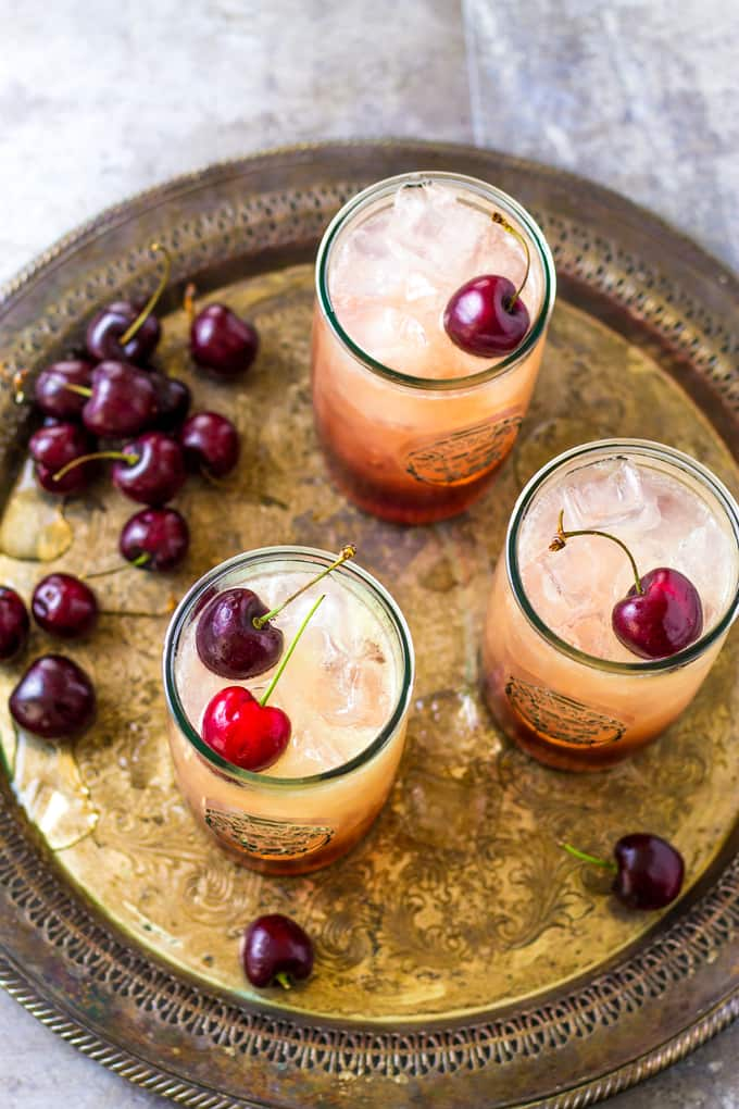 Cherry Amaretto Limeade Cocktail with 3 Ingredients and a light taste   Take Two Tapas   #CherryRecipe #Amaretto #Cocktails #Limeade #SummerCocktails #3IngredientCocktails