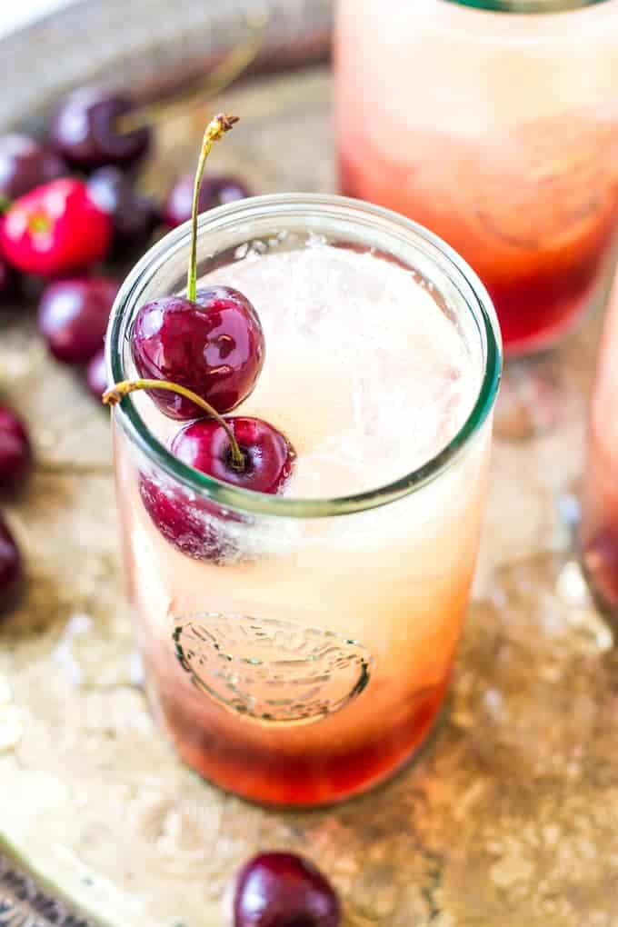 Cherry Amaretto Limeade Cocktail | Take Two Tapas