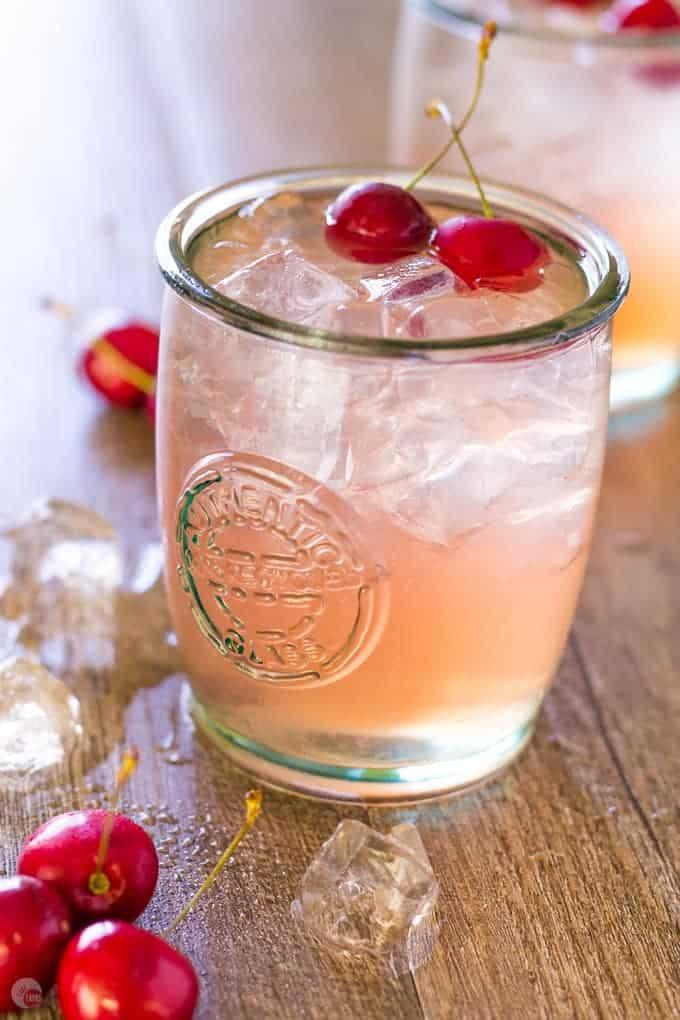 Cherry Lime Bourbon Smash Cocktail | Take Two Tapas