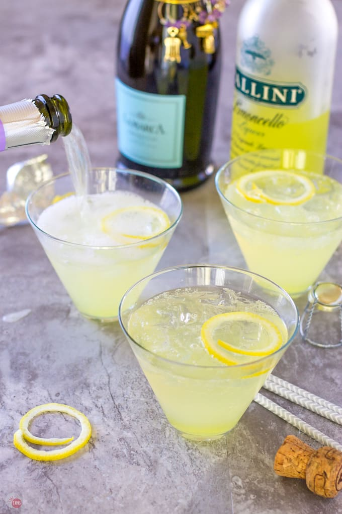 Limoncello Lady Cocktail or Prosecco Punch for your party | Take Two Tapas | #Limoncello #ProseccoCocktail #3IngredientCocktails #SimpleCocktailRecipes #Summer
