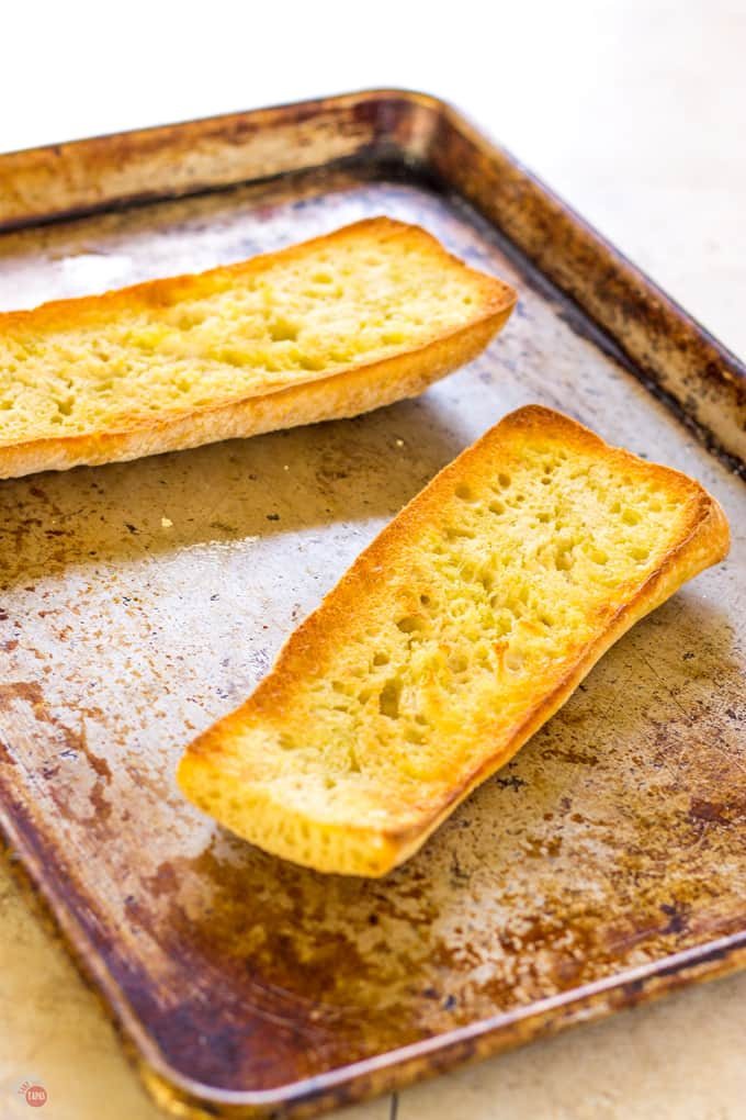 Broiled Ciabatta Pan Con Tomate | Take Two Tapas | #PanConTomate #SpanishTapas #Appetizer #EasyAppetizers #TomatoRecipes #Bread
