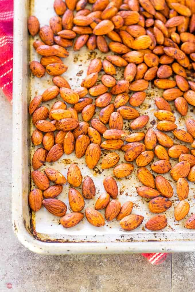 Smoked Paprika Almonds make a great snack with the hint of bacon | Take Two Tapas