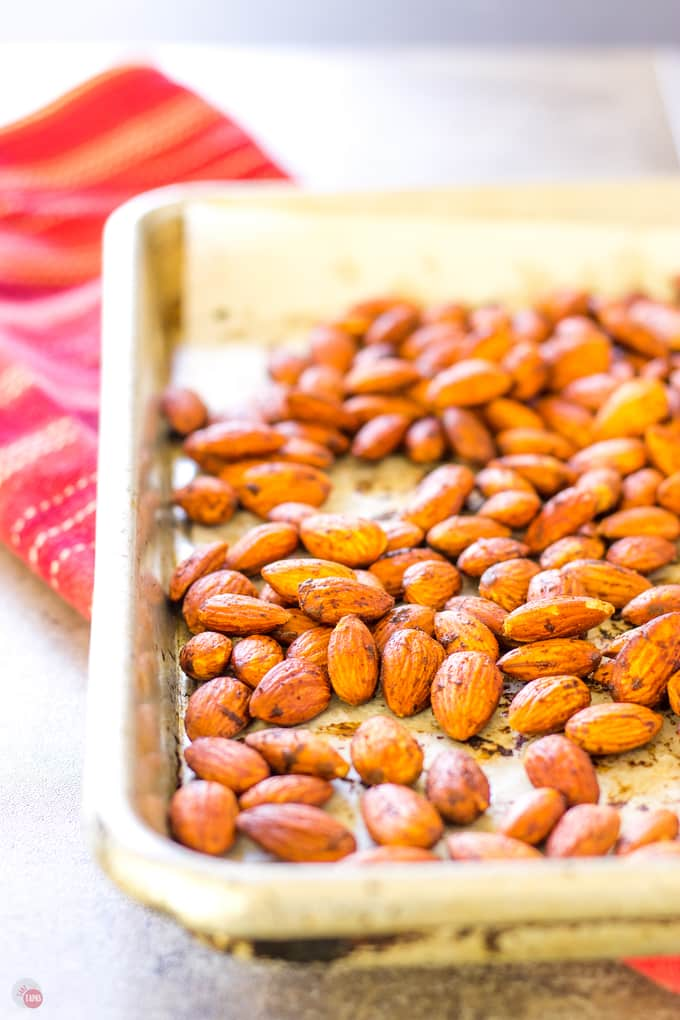 Smoke Paprika Almonds with salt and bacon! | Take Two Tapas