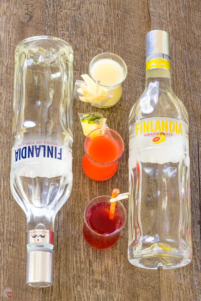 Tropical Mini Cocktails with Vodka Finlandia