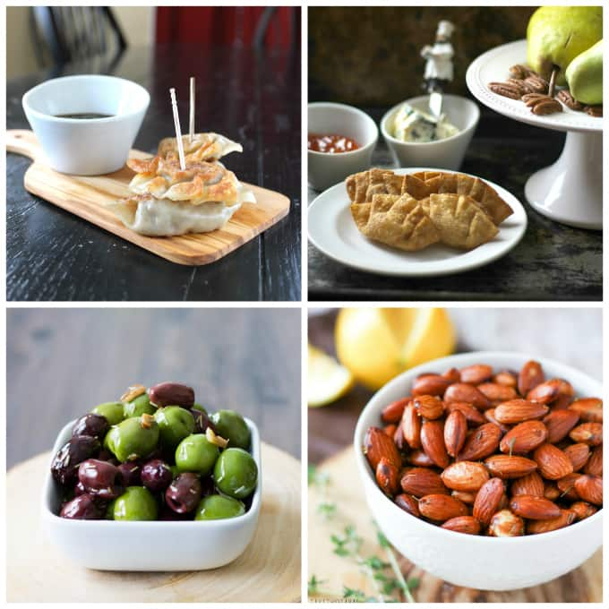 Collage of small portioned appetizers and tapas don't require a fork!