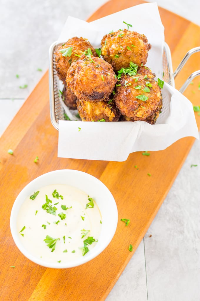 Spicy Bacon Manchego Croquettes with Tabasco Ranch | Take Two Tapas