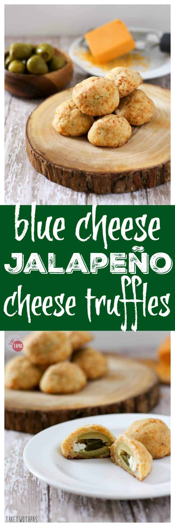 Blue Cheese Jalapeño Cheese Truffles with Olives | Take Two Tapas