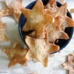 overhead shot of Cinnamon Stars in a blue bowl