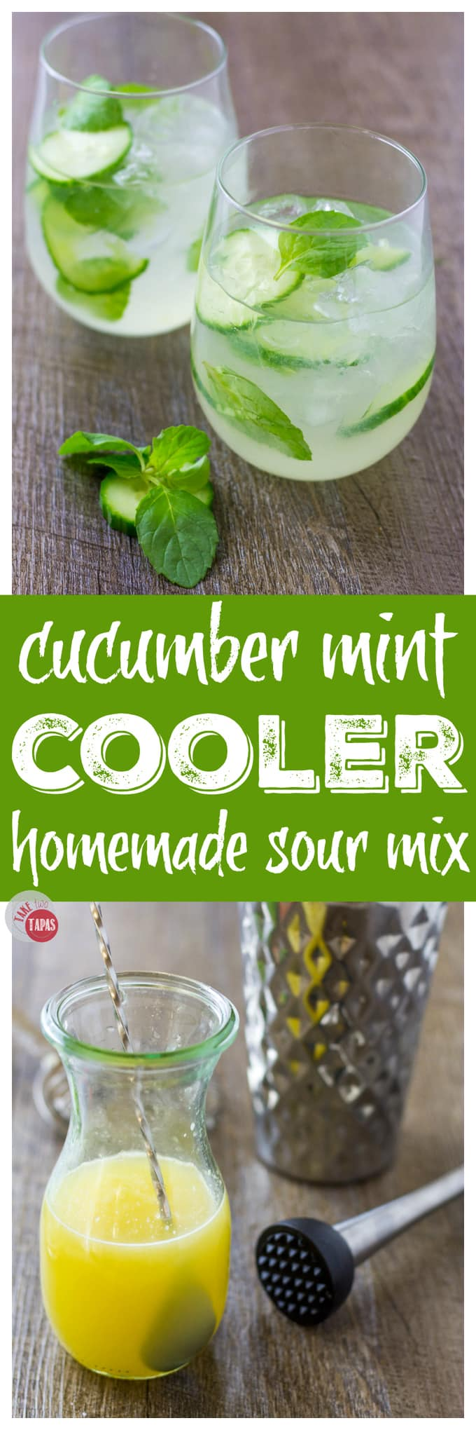 Check out this delightful Cucumber Mint Gin Cooler | Take Two Tapas | #Cucumber #Gin #Mint #SummerCocktail #SparklingWater #EasyCocktail #SummerEntertaining