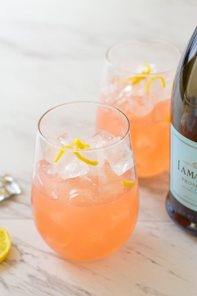 two ingredients of the Grapefruit Lemonade Crush   Take Two Tapas