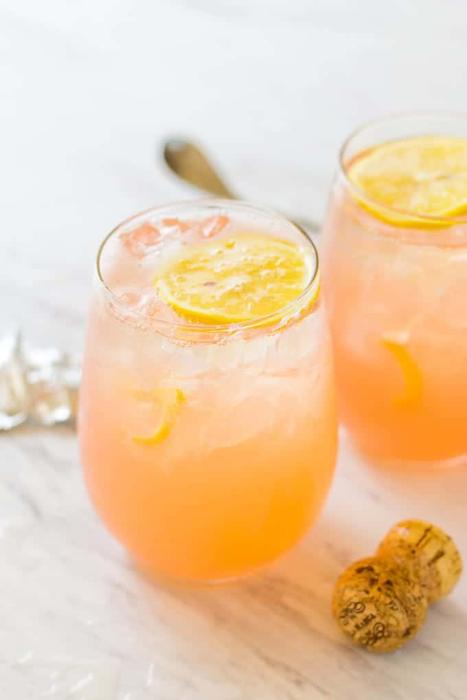 Grapefruit Lemonade Crush Cocktail | Take Two Tapas | #Grapefruit #Lemonade #CocktailRecipe #3IngredientCocktail #EntertainingRecipes