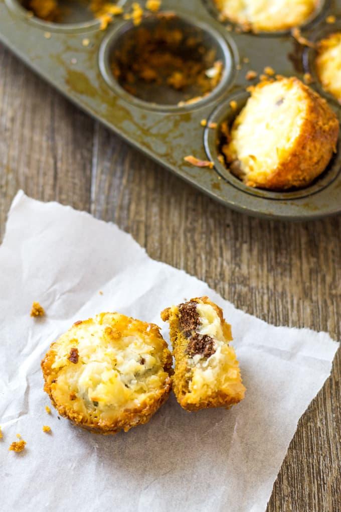 Use a mini muffin pan to make these Magic Cookie Bar Bites | Take Two Tapas