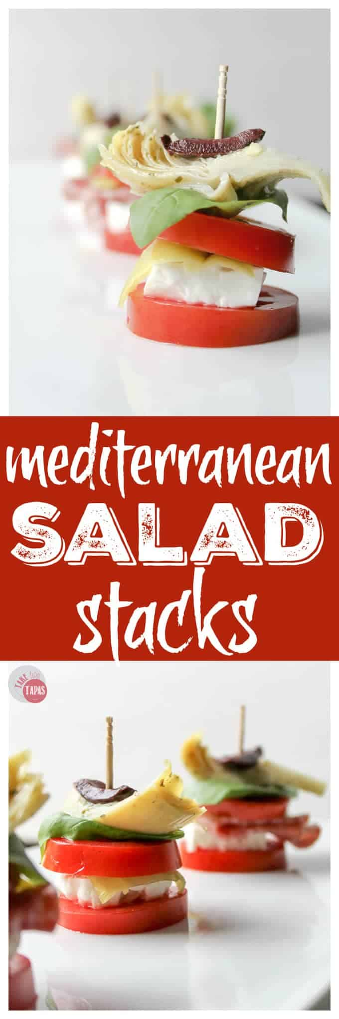 Mediterranean Antipasto Salad Stacks | Take Two Tapas Recipes