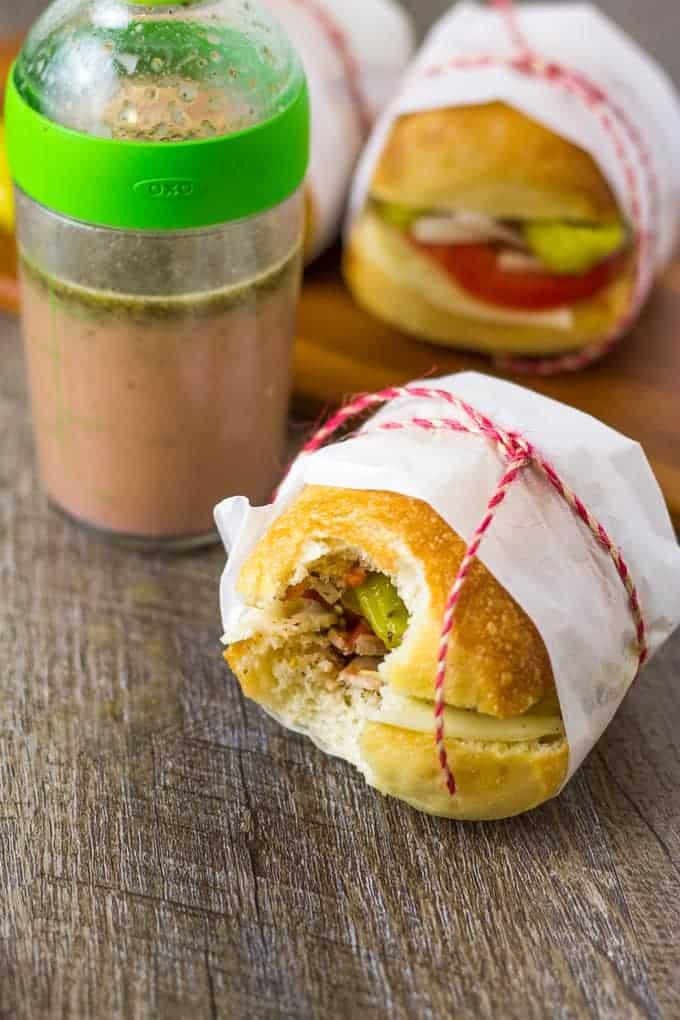 Mini Italian Veggie Sliders Sandwiches- Vegetarian | Take Two Tapas | #VegetarianSliders #PicnicSandwiches #PicnicIdeas #VeggieSandwiches #VegetarianSubs