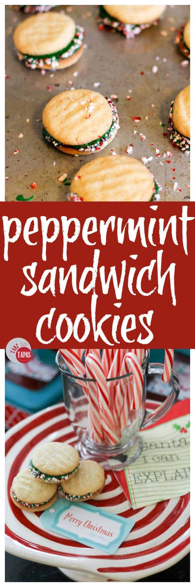 Christmas is perfect with Peppermint Sandwich Cookies | Take Two Tapas