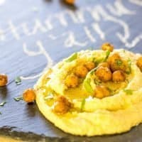 Shawarma Hummus with Roasted Chickpeas