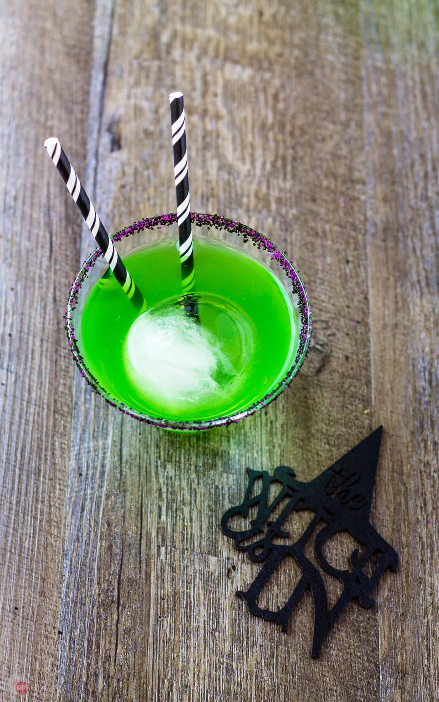 The ice sphere in the Flying Monkeys cocktail mimics a witch's crystal ball. | Take Two Tapas