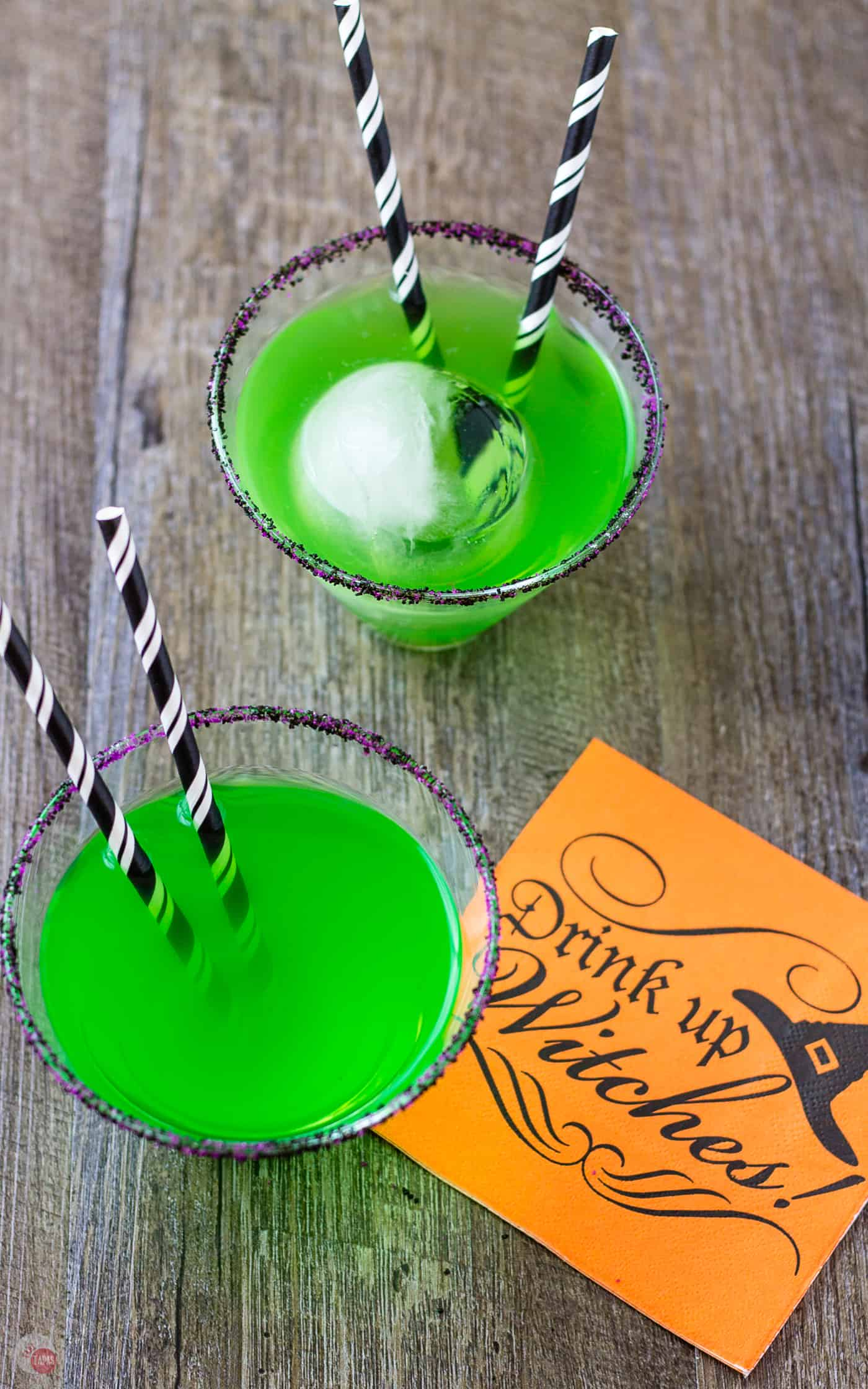 The green color shouldn't have you scared of my Flying Monkeys Cocktail | Take Two Tapas