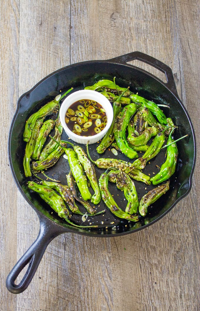 How to make Pan Blistered Shishito Peppers | Take Two Tapas | #ShishitoPeppers #ShishitoRecipe #Peppers #Ponzu #FingerFoods