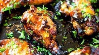 Sriracha Honey Bourbon Chicken Wings