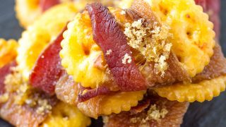 Sweet and Spicy Bacon Crackers - The Perfect Tailgate Snack