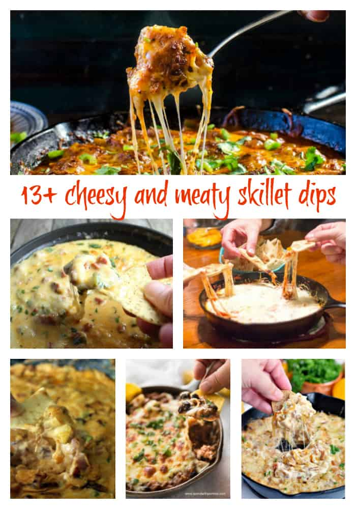 Meaty and cheesy skillet dip options | Take Two Tapas #SkilletDips #Skillet #Dips