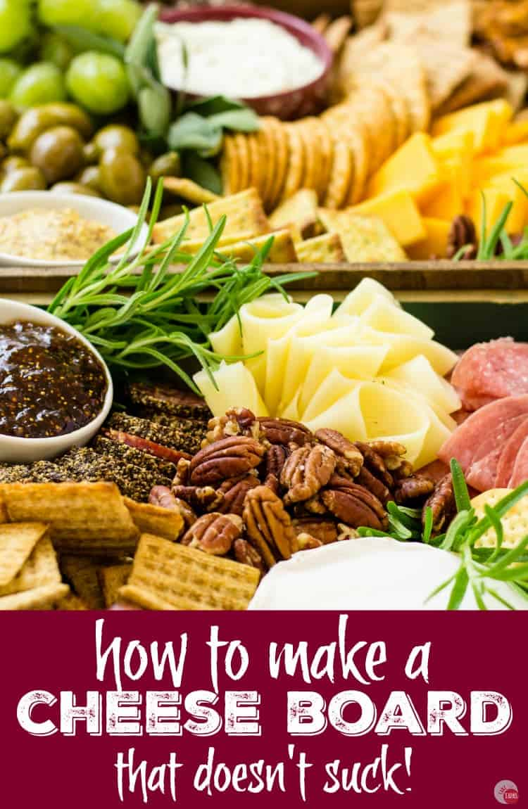 Need a killer cheese board? Check out my cheese board tutorial for your next party Pinterest Image