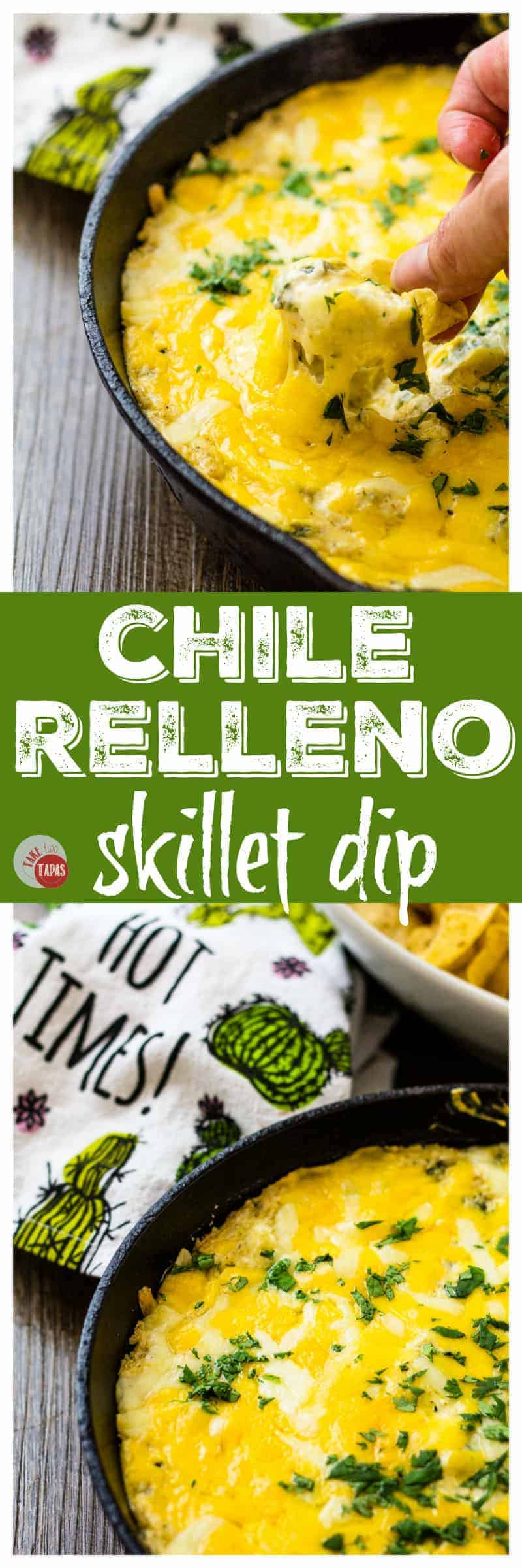 Tailgating is better with Chile Relleno Dip in a skillet | Take Two Tapas