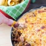 Frito Pie Skillet Dip | Take Two Tapas | #FritoPie #Dips #SkilletDips #FritoPieDip