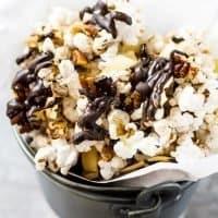German Chocolate Popcorn