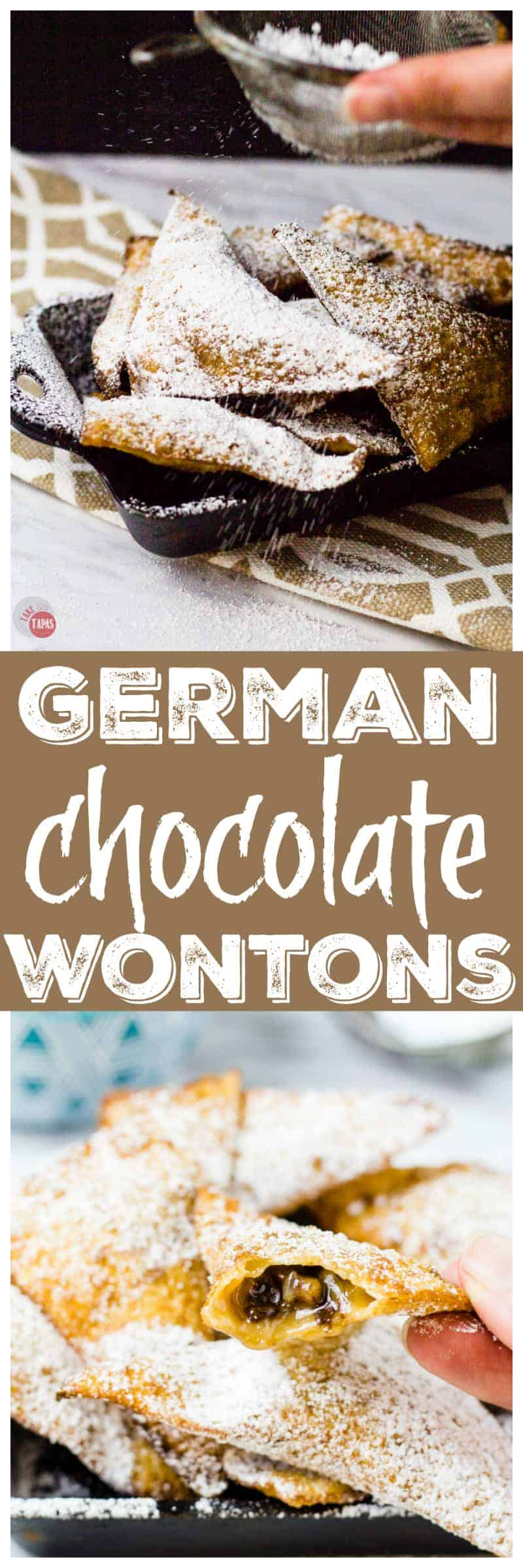 You will love my German Chocolate Wontons more than the cake! | Take Two Tapas