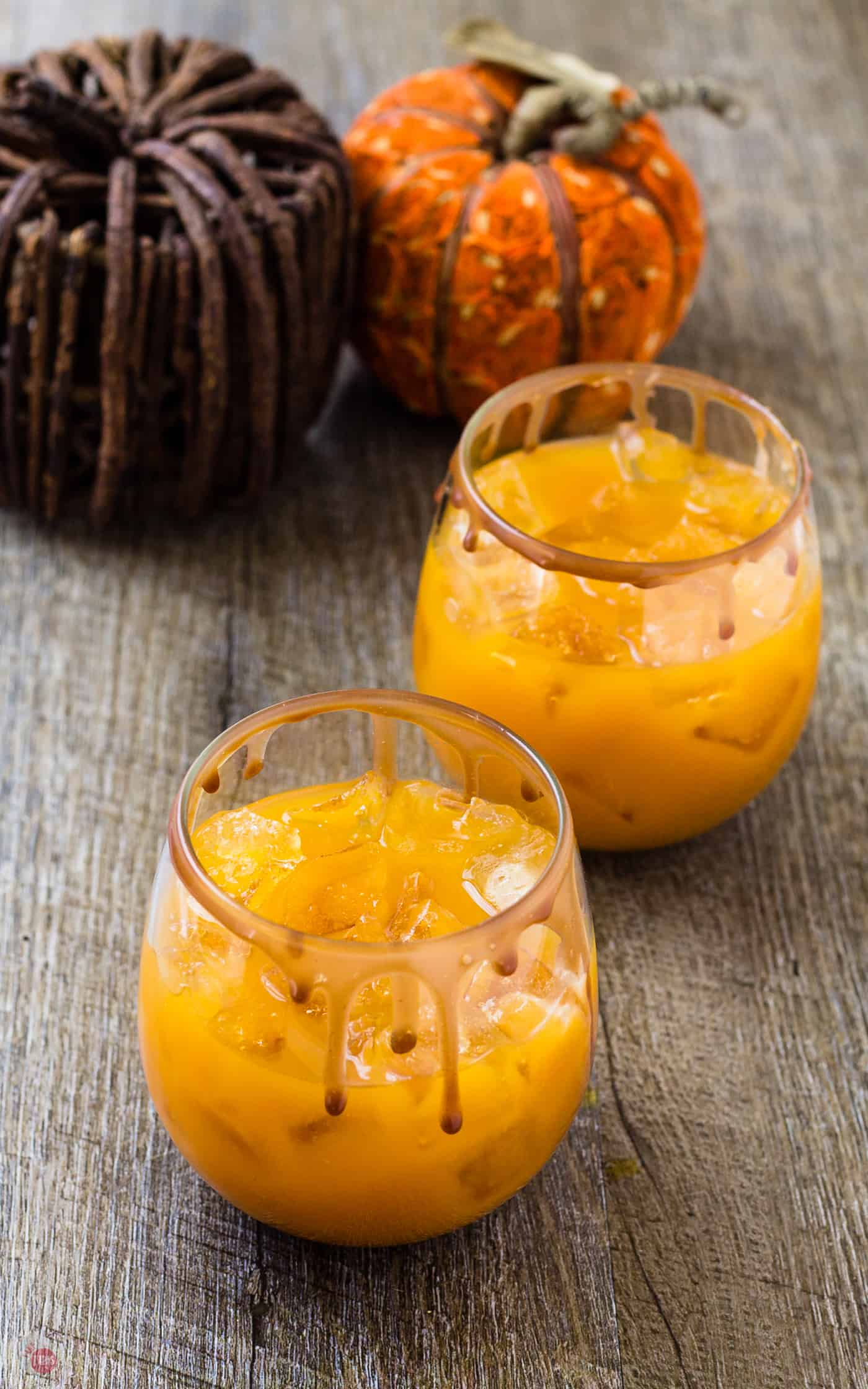 A simple mixture of pumpkin puree, apple cider, and bourbon is all you need for my Pumpkin Apple Punch! | Take Two Tapas and The Great Pumpkin