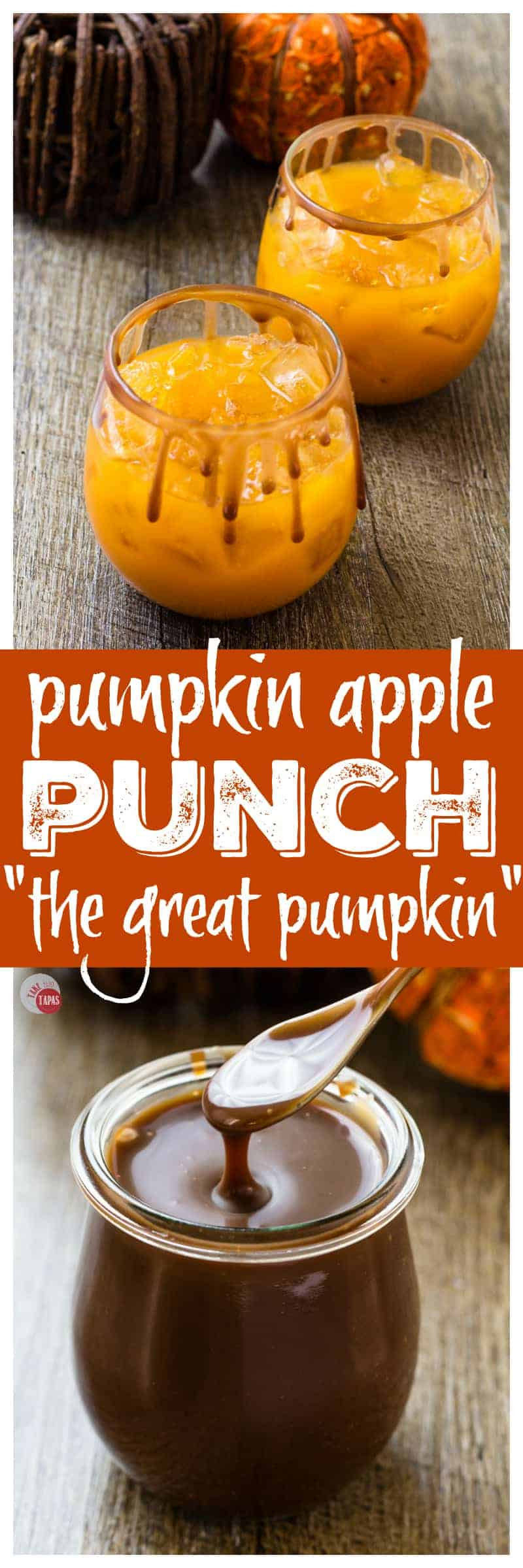 This Pumpkin Apple Punch is perfect for fall! | Take Two Tapas