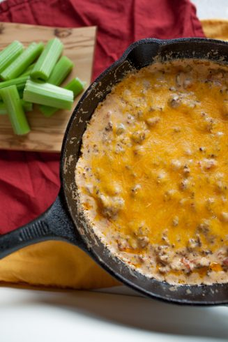 Sausage Skillet Dip - Joyfully Mad | Take Two Tapas