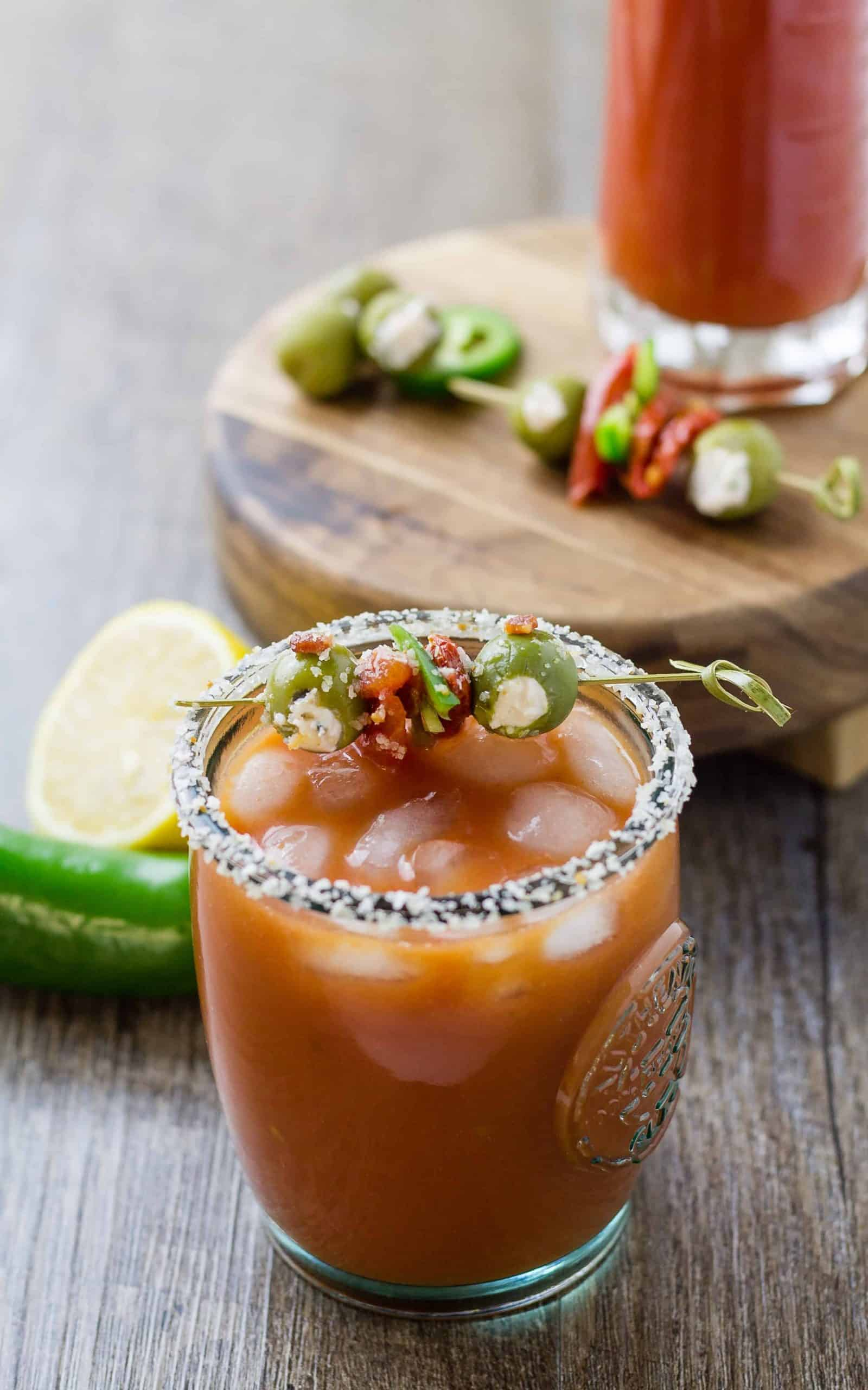 Bloody Marianne - A bourbon twisted Bloody Mary | Take Two Tapas | #BloodyMary #BloodyMarianne #Bourbon #Cocktail