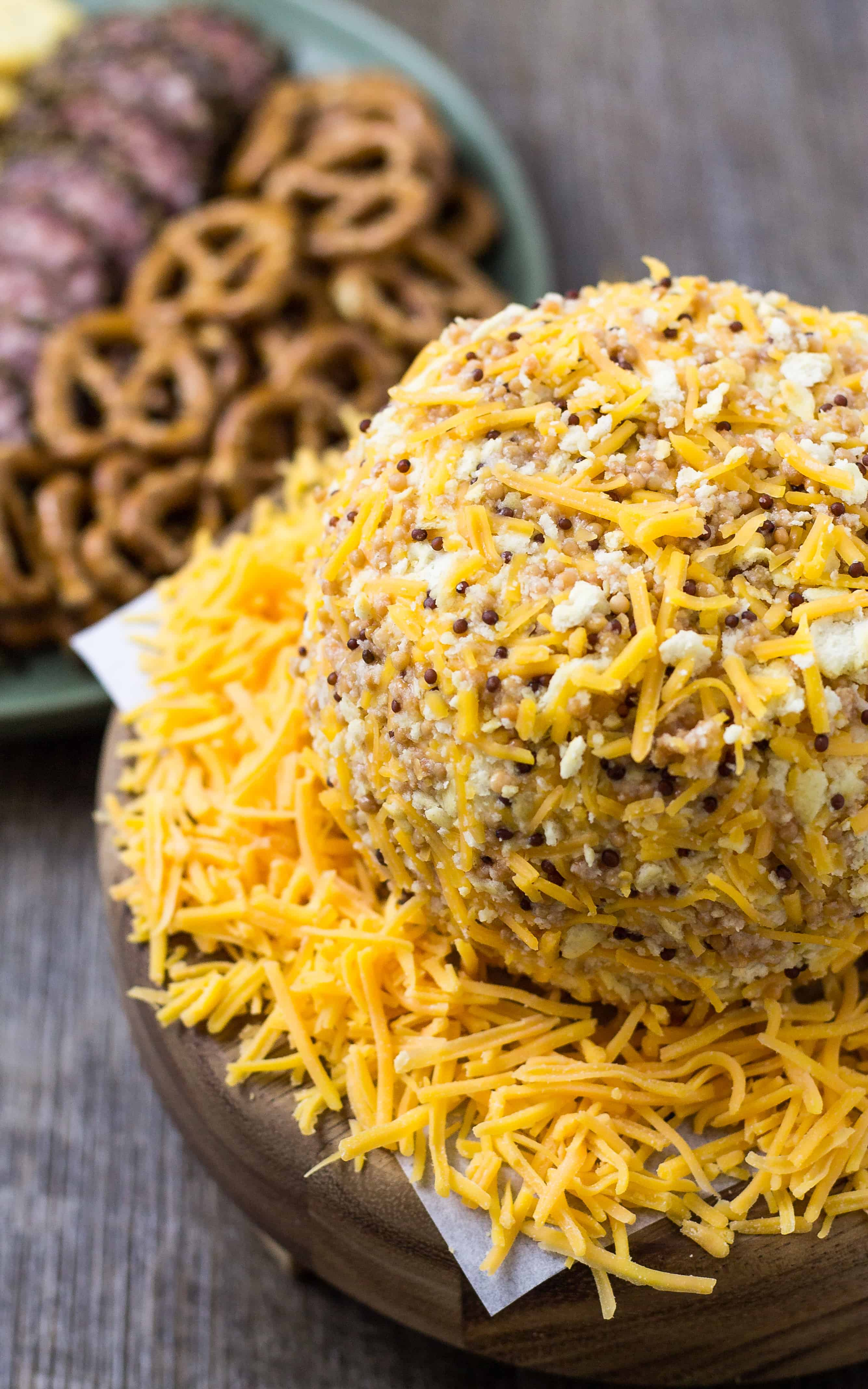Honey Mustard Cheese Ball for any occasion | Take Two Tapas | #HoneyMustard #honey #mustard #Cheeseball #Cheese #Holidays