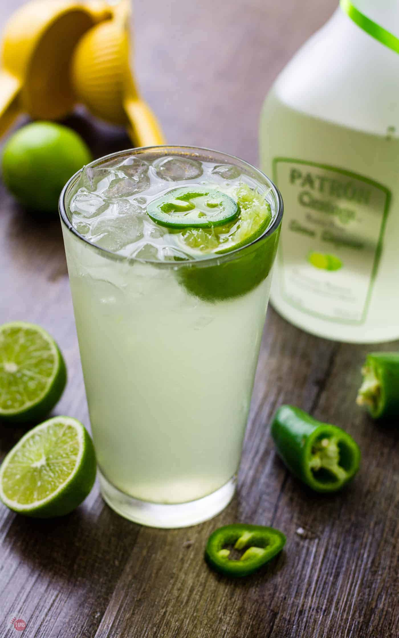 Lime Coconut Cooler Cocktail with sparkling water