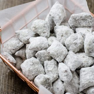 You won't be able to get enough of my Peanut Butter Pretzel Puppy Chow | Take Two Tapas #PuppyChow #PeanutButterPretzel #SnackMix #PuppyChowRecipe #MuddyBuddyRecipe #PuppyChowVariation